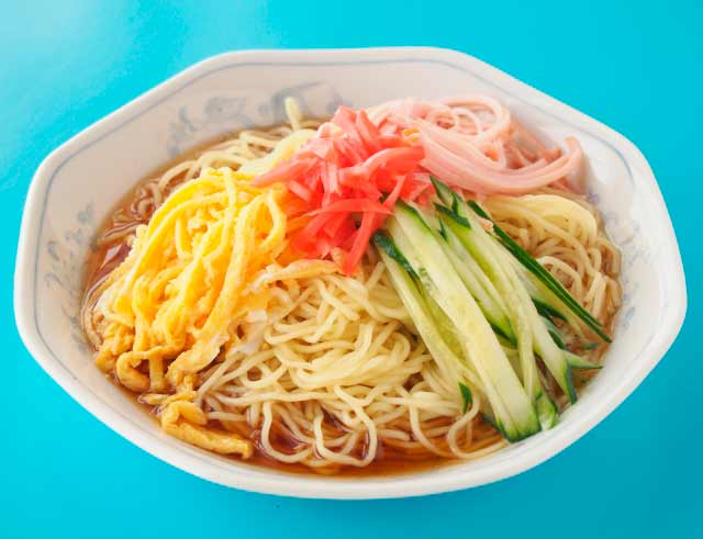 冷やし中華とラーメンの麺の違い
